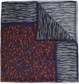 Saint Laurent chiffon animal print scarf