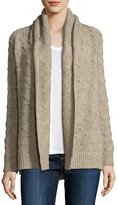 Vince Tuck-Stitch Knit Cardigan, Heather Khaki