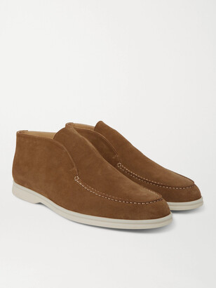 Loro Piana Open Walk Suede Boots
