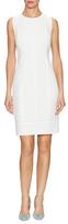 Ava & Aiden Cotton Texture Jacquard Sheath Dress
