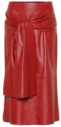 Joseph Renne leather midi skirt