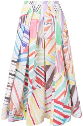 Rosie Assoulin Million Pleats A-line skirt