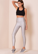 Missy Empire Giana Silver High Waisted Work Out Leggings