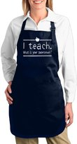 """PLIOFU Attitude Aprons Fully Adjustable """"Teach What Is Your Superpower"""" Apron With Pocket"""