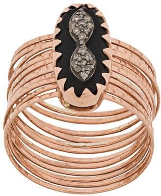 Pascale Monvoisin 9kt rose gold Bowie N1 black diamond ring
