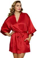 Jezebel Plus Size Gem Satin Kimono Robe
