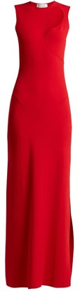 Esteban Cortazar Cut-out Stretch-knit Dress - Womens - Red