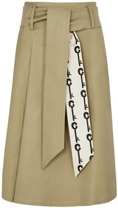 La Prestic Ouiston Sophie stone cotton-blend midi skirt