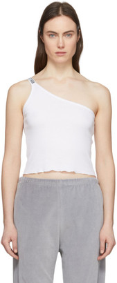 Aries White Asymmetric Tank Top
