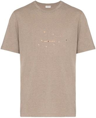 Saint Laurent star logo print T-shirt