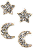 ABS by Allen Schwartz Gold-Tone 2-Pc. Set Crystal Stud Earrings