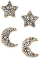 ABS by Allen Schwartz Gold-Tone 2-Pc. Set Crystal Stud Earrings