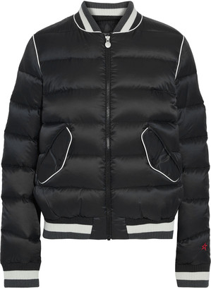 Perfect Moment Rainbow Quilted Shell Down Bomber Jacket