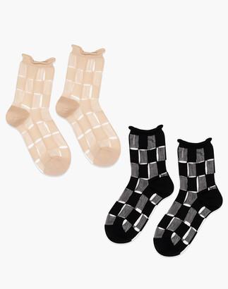 Madewell Hansel from Basel Berlin Sheer Short Crew Socks Two-Pair Pack