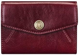 Maxwell Scott Bags Luxury Womens Red Italian Leather Petite Envelope Purse
