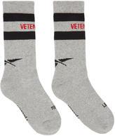 Vetements Grey Reebok Edition Tennis Socks