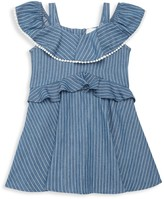 BCBGirls Little Girl's Striped Ruffle Cotton Dress