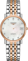 Longines L4.809.5.87.7 Elegant collection 18ct rose gold and stainless steel watch