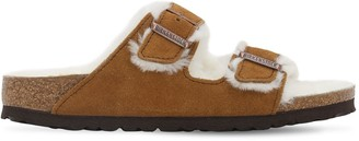 Birkenstock Arizona Suede & Shearling Sandals