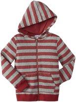 Splendid Active Stripe Zip Hoodie (Toddler/Kid) - Red-4T