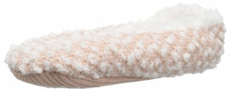 Dearfoams Women's Ballerina Slipper Sock Popcorn Knit