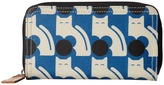 Orla Kiely Poppy Cat Print Big Zip Wallet