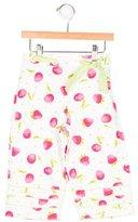 Florence Eiseman Girls' Fruit Print Textured Pants