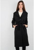 Molly Bracken Long Coat with Tie Up Belt