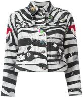 Marc Jacobs zebra print shrunken jacket - women - Cotton - M