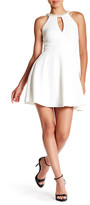 Speechless Faux Pearl Embellished Skater Dress