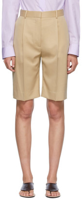 The Row Beige Marco Shorts