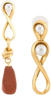 Oscar de la Renta Abstract Drop Earrings