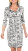 Gretchen Scott Ruffneck Printed Dress