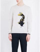 Lanvin Koi Carp Knitted Wool Jumper