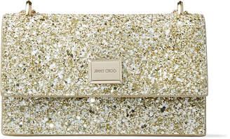Jimmy Choo LENI Moon Sand Infinity Glitter Fabric Mini Bag