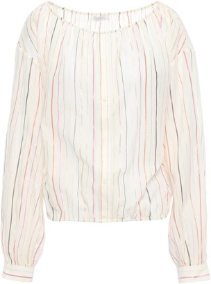 Joie Striped Cotton-blend Gauze Blouse