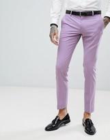 Noose & Monkey Wedding Super Skinny Suit Trousers In Lilac-Purple
