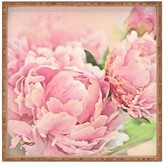 DENY Designs Lisa Argyropoulos Pink Peonies Square Tray