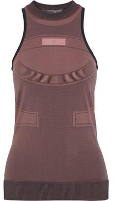 adidas by Stella McCartney Run Ultra Open Knit-paneled Stretch-jacquard Tank