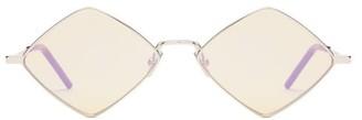 Saint Laurent Diamond Metal Sunglasses - Mens - Silver