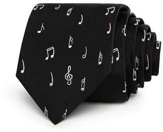 Paul Smith Music Note Pattern Skinny Tie