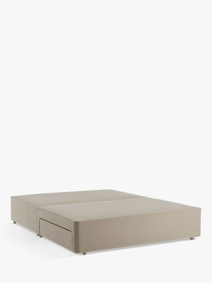 John Lewis & Partners Pocket Sprung 2500 2 Drawer Storage, Small Double Upholstered Divan Base, FSC-Certified (Pine)