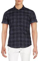 Calvin Klein Jeans Plaid Cotton Short Sleeve Shirt