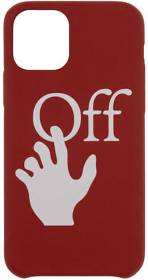 Off-White Red Hands Off iPhone 11 Pro Case