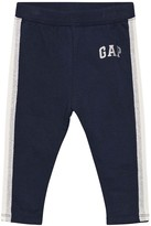 Gap Blue Galaxy Soft Terry Logo Leggings