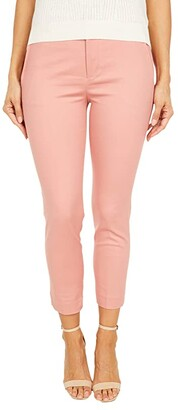 Lauren Ralph Lauren Petite Lakythia Stretch-Cotton Blend Pants (Mosaic Pink) Women's Clothing