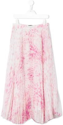 Roberto Cavalli Junior Printed Pleated Skirt