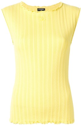 Chanel Pre Owned Knitted Sleeveless Top