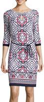 Liz Claiborne Printed Sheath Dress