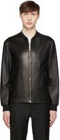 Versace Black Lambskin Bomber Jacket